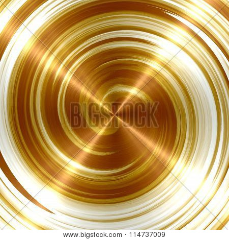 Abstract Bronze Spiral Stainless Steel Background