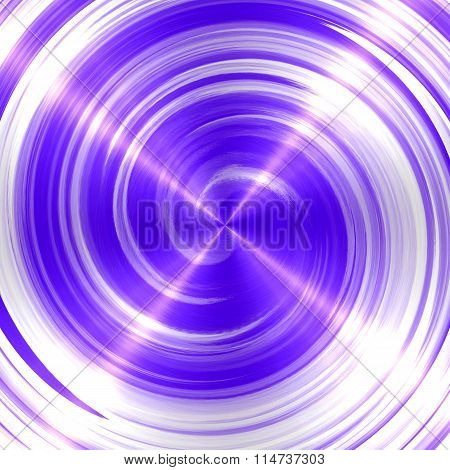 Abstract Violet Spiral Stainless Steel Background