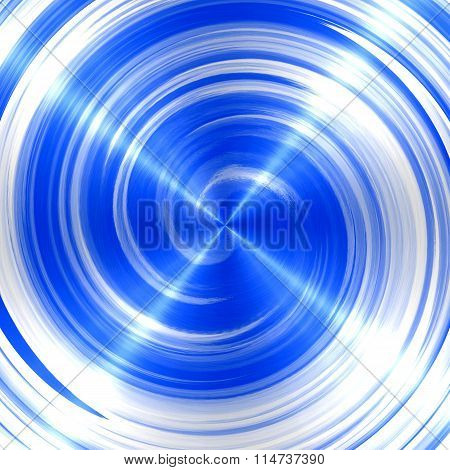 Abstract Blue Spiral Stainless Steel Background