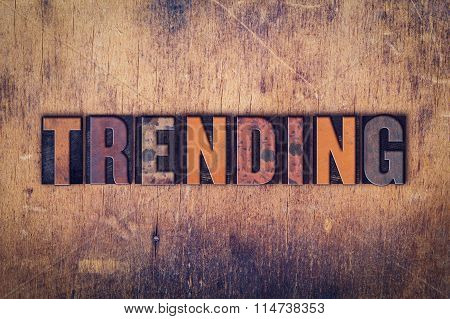 Trending Concept Wooden Letterpress Type