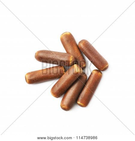 Chocolate coated licorice stick