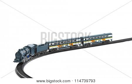 Toy train isolated on white background