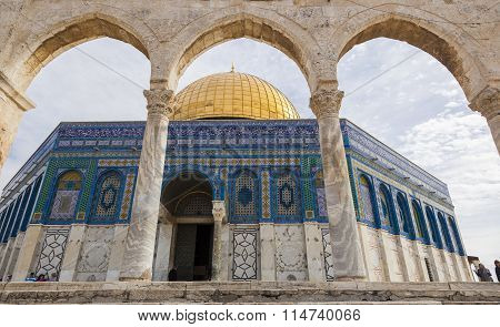 Dome On The Rock On Temple Mount. Jerusalem. Israel.