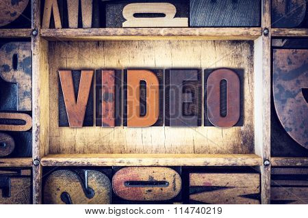 Video Concept Letterpress Type
