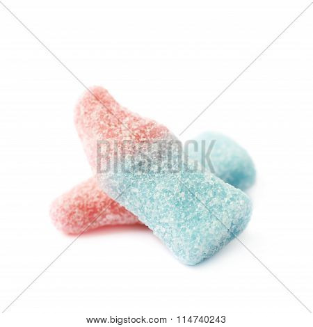 Bottle shaped fizzy candy