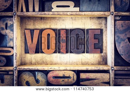 Voice Concept Letterpress Type