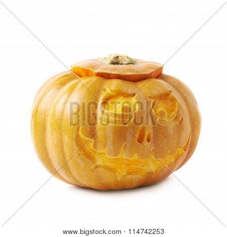 Scary Jack-O-Lantern pumpkin isolated