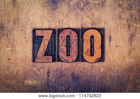 Zoo Concept Wooden Letterpress Type