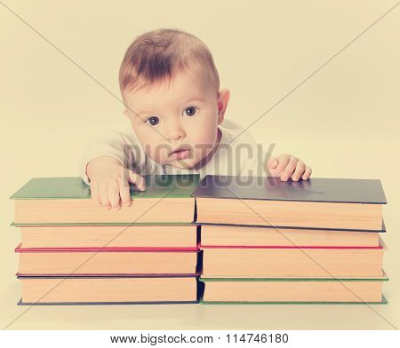 Baby, Infant And Books,