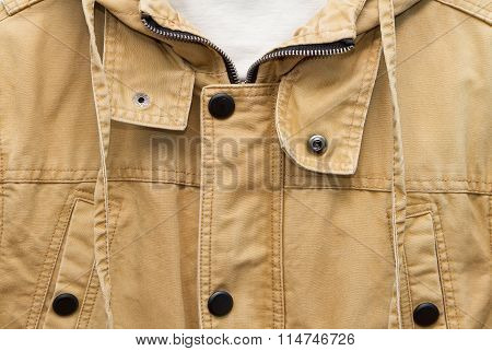 Brown Autumn Cotton Jacke