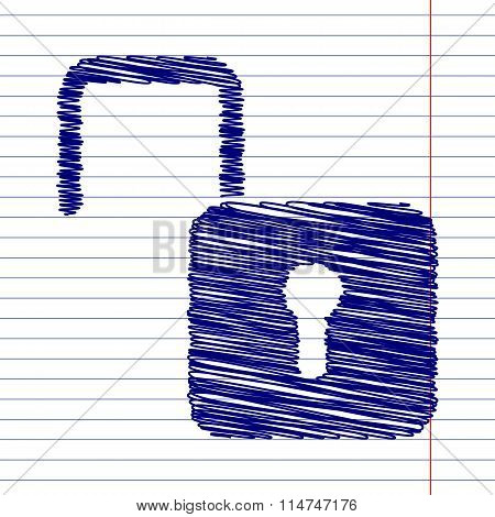 Unlock sign illustration