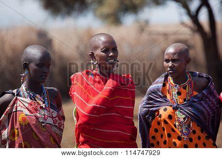 Masai women in the village