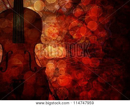 Violin Grunge Background Illustration