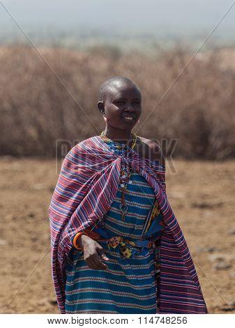 Masai women in the village in Amboseli National Park