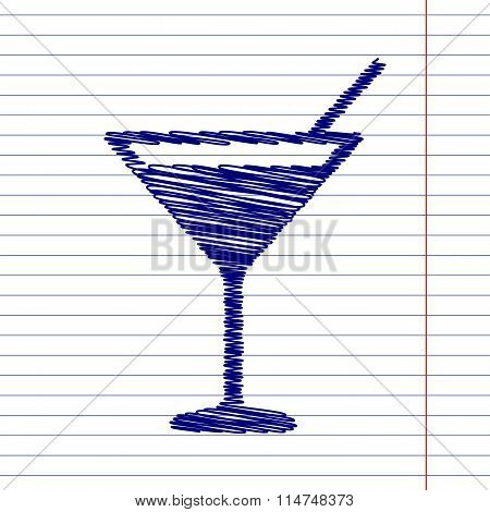 Coctail sign illustration