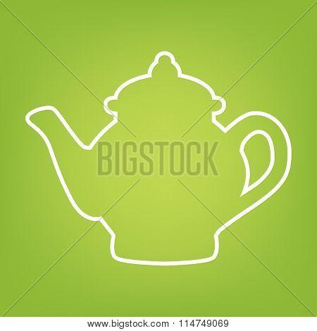 Tea maker line icon