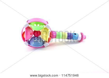 Children Toy Percussion Isolated On White Background