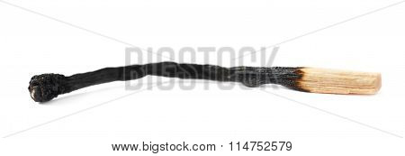 Burnt match stick isolated
