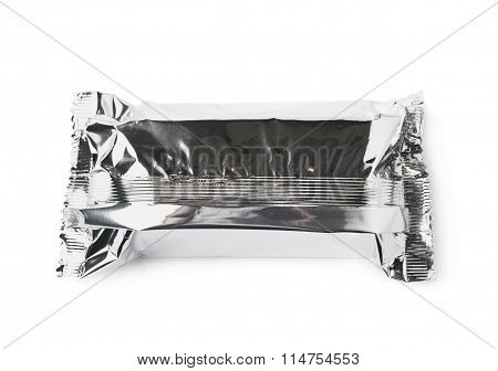 Silver foil sealed package isolated