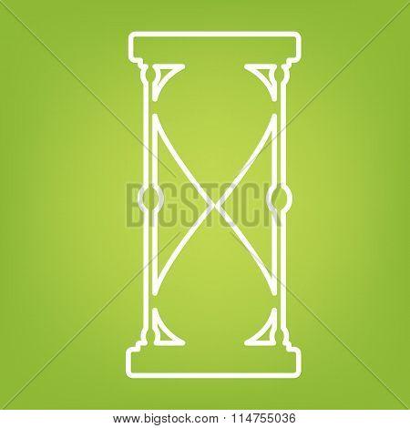 Hourglass line icon