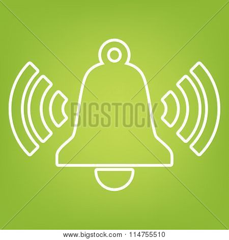 Ringing bell line icon