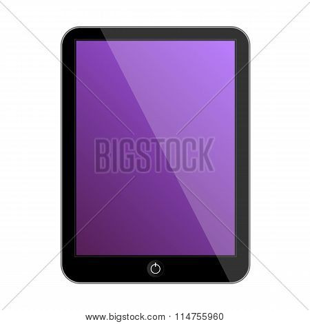 Modern tablet illustration