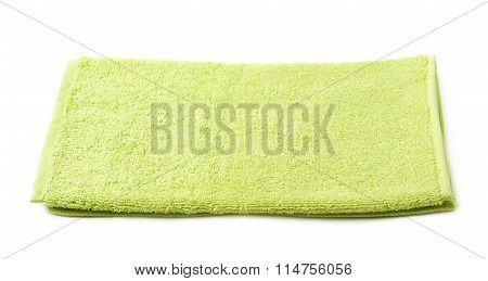 Single terry cloth towel isolated