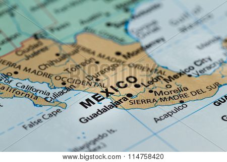 Mexico On A Map