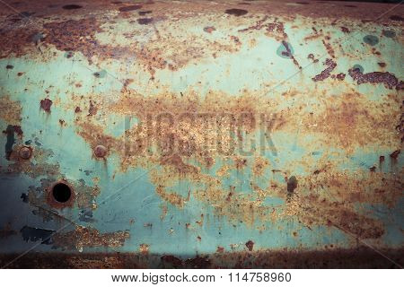 Rusty Metal Plate Panel Corroded Texture Background