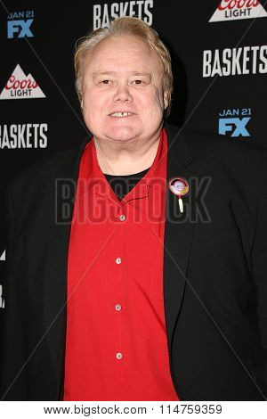 vLOS ANGELES - JAN 14:  Louie Anderson at the Baskets Red Carpet Event at the Pacific Design Center on January 14, 2016 in West Hollywood, CA