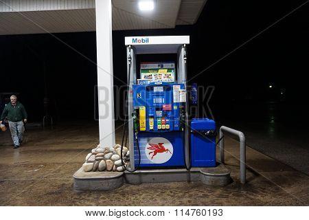 Mobil Gasoline Pump