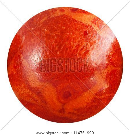Bead From Red Sponge Coral Natural Gem Stone
