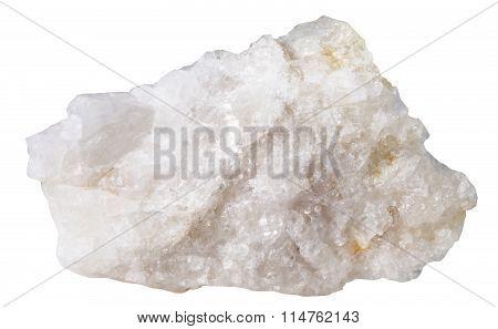 Scheelite Mineral Stone Isolated On White