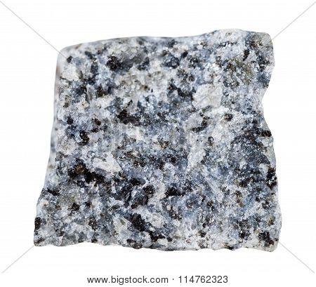 Gabbro (basalt) Mineral Stone Isolated On White