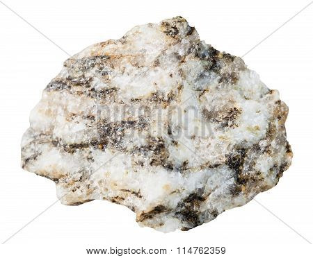 Specimen Of Gneiss Mineral Stone Isolated