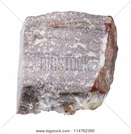 Rhyolite Mineral Stone Isolated On White