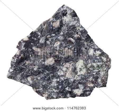 Andesite Mineral Stone Isolated On White