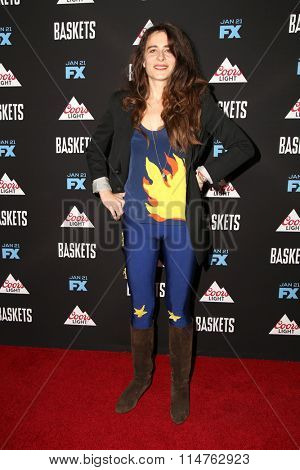 vLOS ANGELES - JAN 14:  Sabina Sciubba at the Baskets Red Carpet Event at the Pacific Design Center on January 14, 2016 in West Hollywood, CA