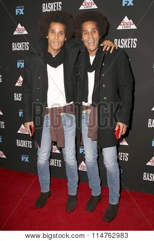 vLOS ANGELES - JAN 14:  Gary Clemmons, Jason Clemmons at the Baskets Red Carpet Event at the Pacific Design Center on January 14, 2016 in West Hollywood, CA