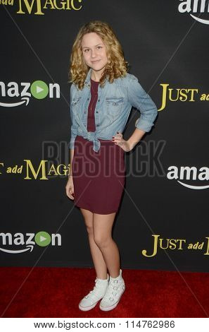 LOS ANGELES - JAN 14:  Isabella Acres at the Just Add Magic Amazon Premiere Screening at the ArcLight Hollywood Theaters on January 14, 2016 in Los Angeles, CA