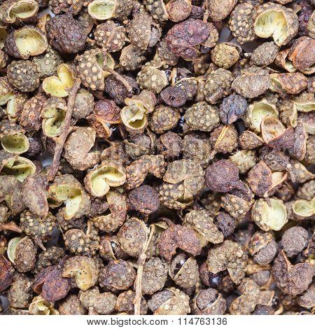 Dried Pods Of Sichuan Pepper Close Up