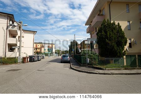 PADUA, ITALY - SEPTEMBER 12, 2014: streets of Padua. Padua is a city and comune in Veneto, northern Italy