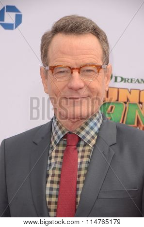 LOS ANGELES - JAN 16:  Bryan Cranston at the Kung Fu Panda 3 Premiere at the TCL Chinese Theater on January 16, 2016 in Los Angeles, CA