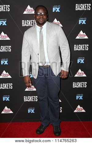 vLOS ANGELES - JAN 14:  Brian Tyree Henry at the Baskets Red Carpet Event at the Pacific Design Center on January 14, 2016 in West Hollywood, CA