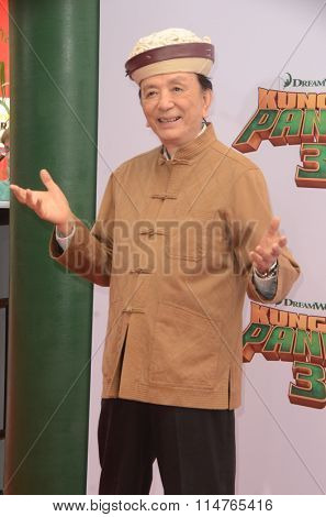 LOS ANGELES - JAN 16:  James Hong at the Kung Fu Panda 3 Premiere at the TCL Chinese Theater on January 16, 2016 in Los Angeles, CA