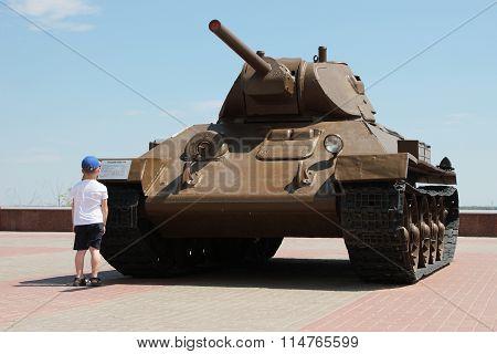 T-34 Tank. Volgograd, Russia