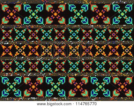 Abstract Background Native Aztec Element Retro