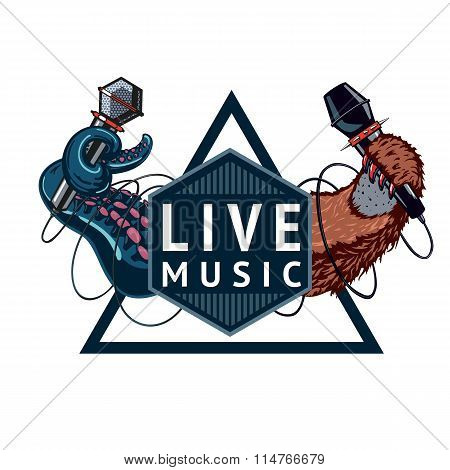 Live music sign