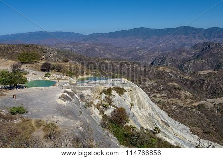 Thermal Springs Hierve El Agua In Oaxaca Is One Of The Most Beautiful Places In Mexico Are High In T