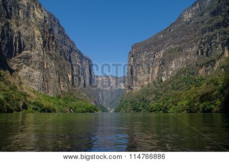 Inside Sumidero Canyon Near Tuxtla Gutierrez In Chiapas, Mexico